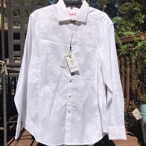 Robert Graham Mens Tuxedo Days Shirt size L NWT